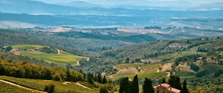 Vista del paesaggio di Rapolano