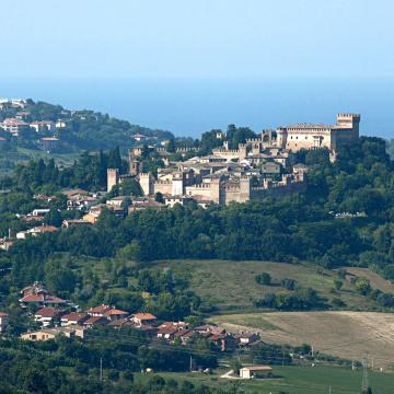 Landscape in the surroundings of Gradara