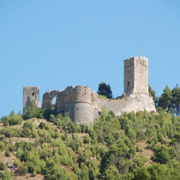 a view of Castello Cantelmo in Popoli