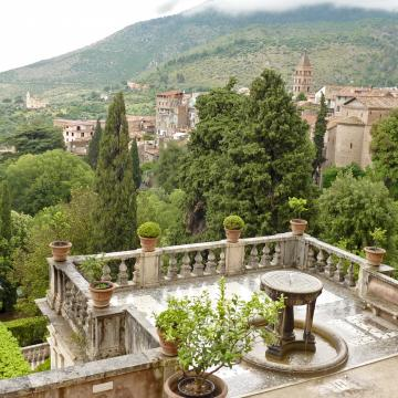 a view of Tivoli Terme