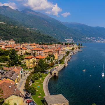 landscape of Lake Maggiore