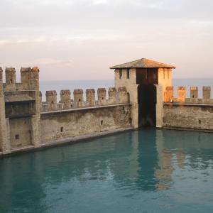 La darsena del Castello Scaligero