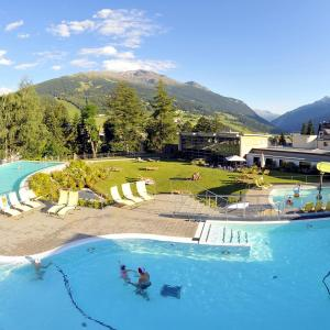 View of Bormio Valtellina baths