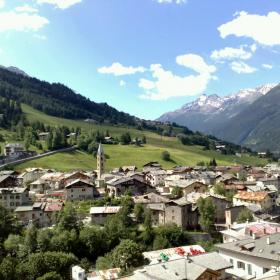 view of Bormio in Valtellina