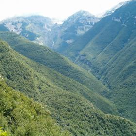 Panorama della Valle Orfento