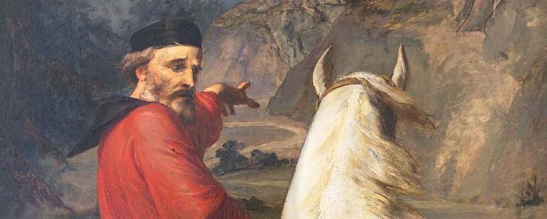 quadro con Giuseppe Garibaldi a cavallo