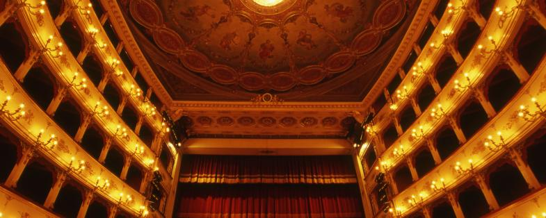 the teatre of Pesaro dedicated to Rossini