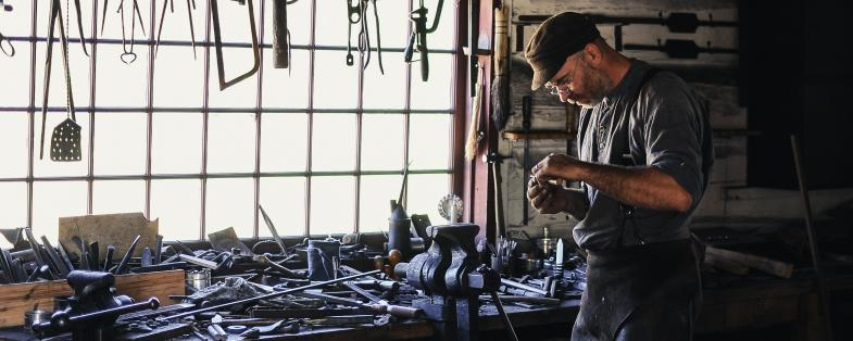Blacksmith in Bormio