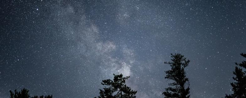 Il cielo stellato dall'osservatorio