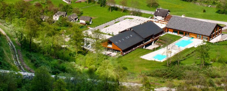 landscape of Premia spa in Val d'Ossola