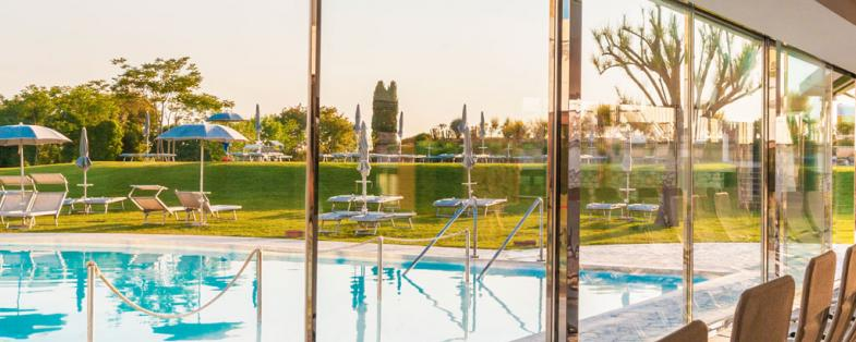 park and pool of Terme San Giovanni