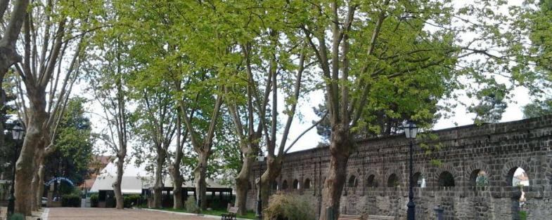 Park of old baths in Telese