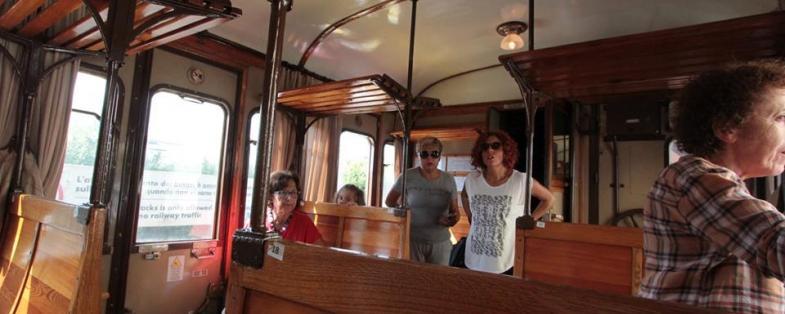 Interni del trenino storico anni 30