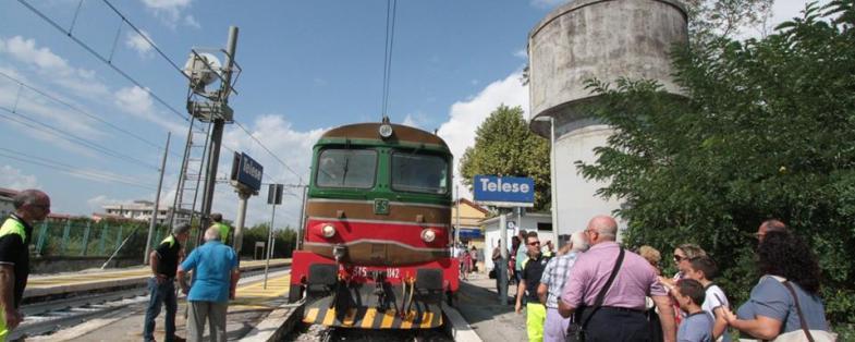 Il trenino storico a Telese