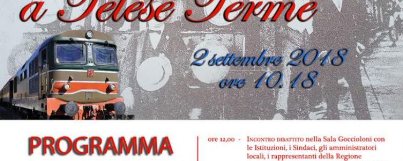 Il treno storico a Telese Terme