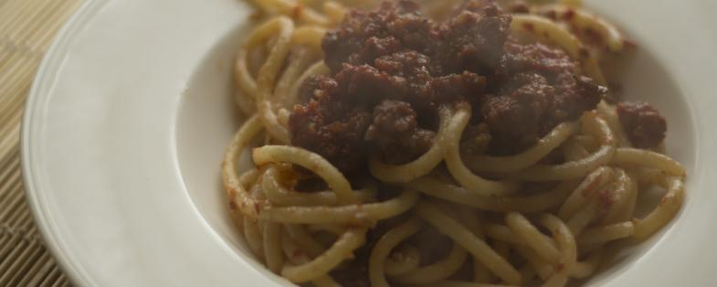 a delicious dish of pici