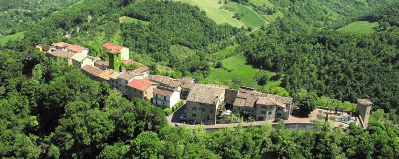 Panorama del borgo di Frontino